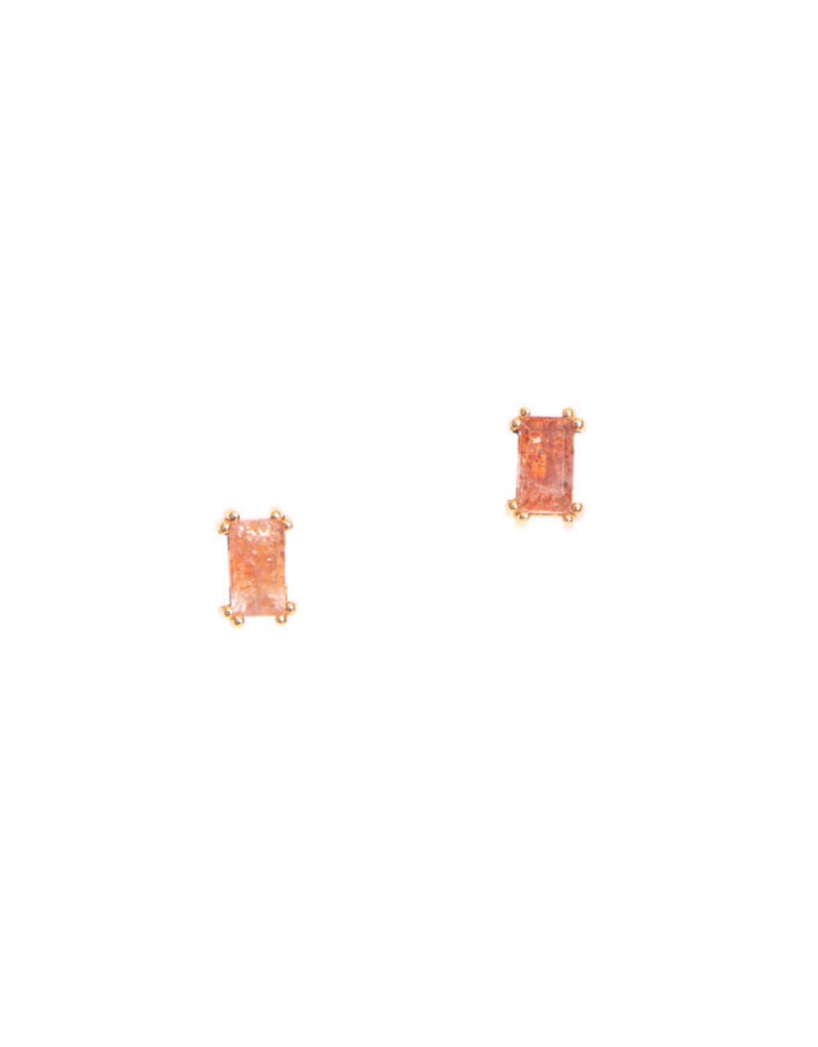 Hailey Gerrits Designs Baguette Studs - Sunstone