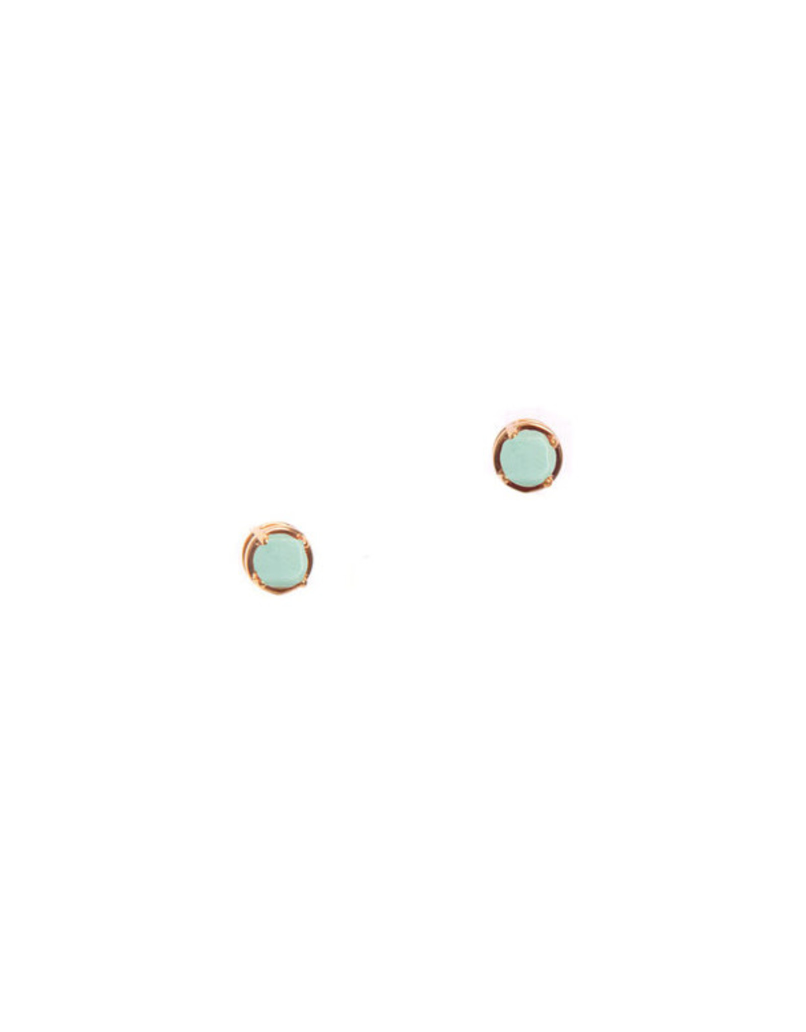 Hailey Gerrits Designs Stone Studs - Green Turquoise