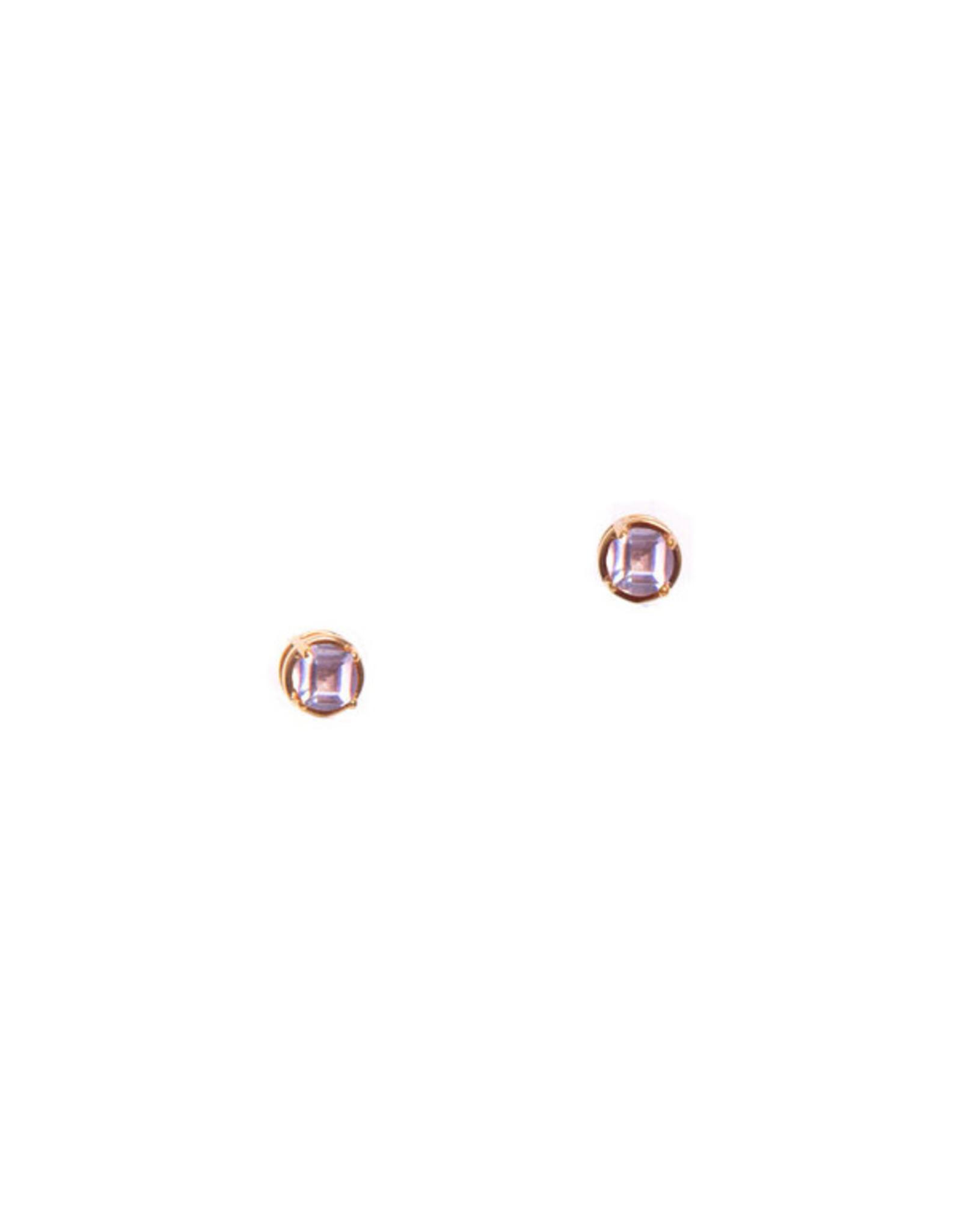 Hailey Gerrits Designs Stone Studs - Pink Amethyst