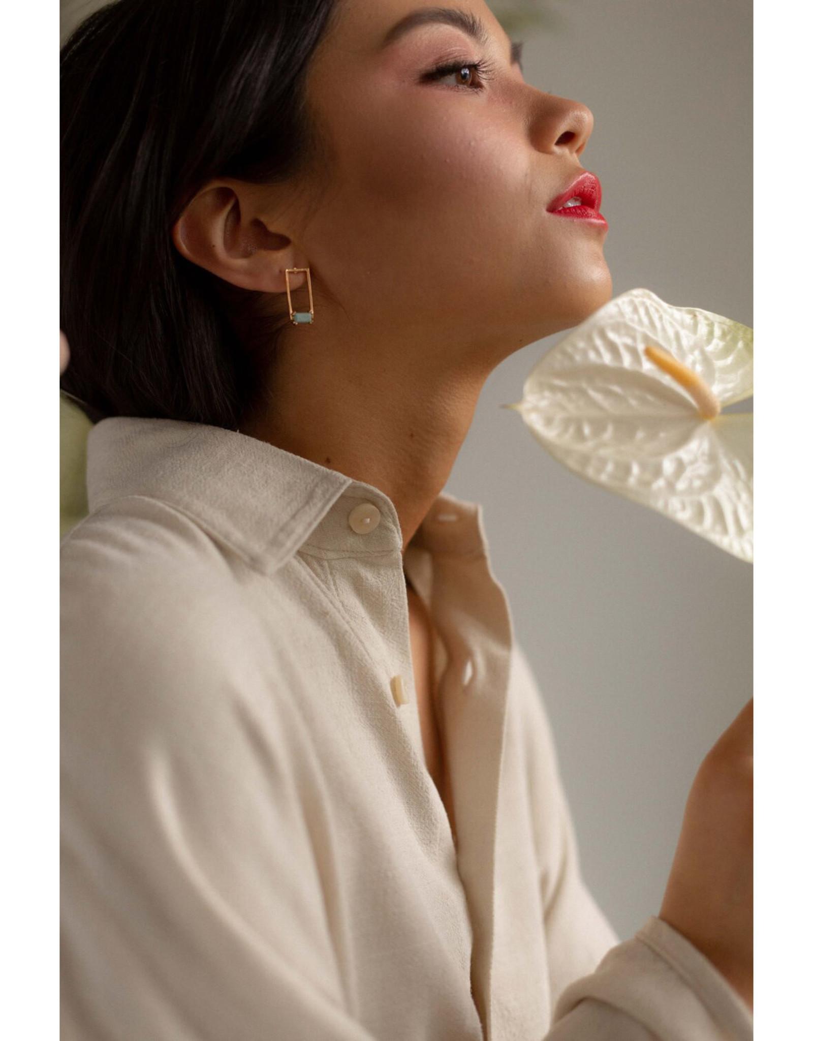 Hailey Gerrits Designs Corsica Earrings - Green Turquoise