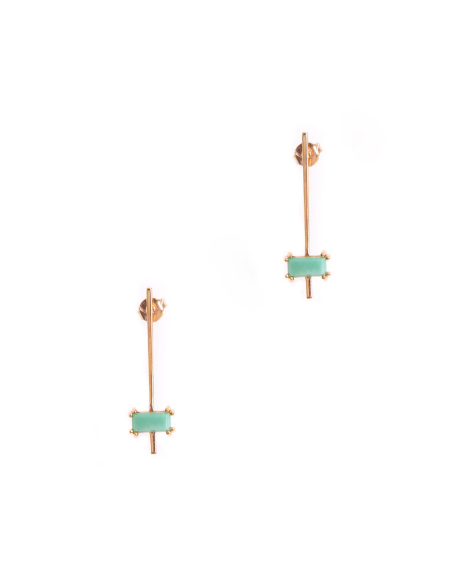 Hailey Gerrits Designs Nile Earrings - Green Turquoise