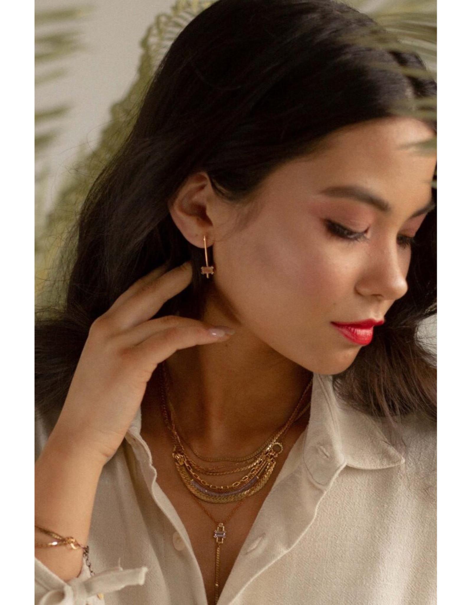 Hailey Gerrits Designs Nile Earrings - Sunstone