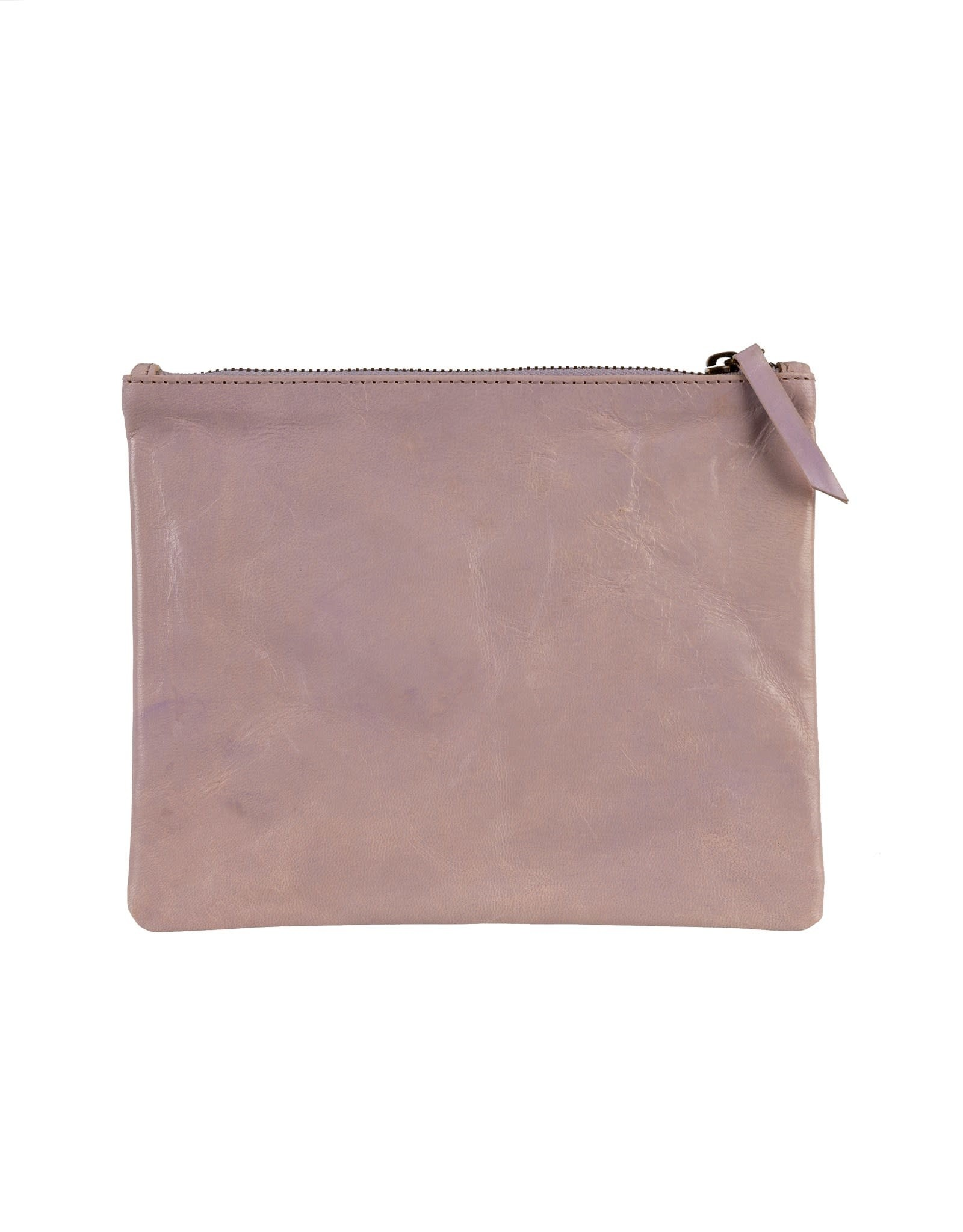 Indaba Artisan Leather Pouch - Lilac