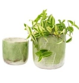 Indaba Lime Palette Pot - Small