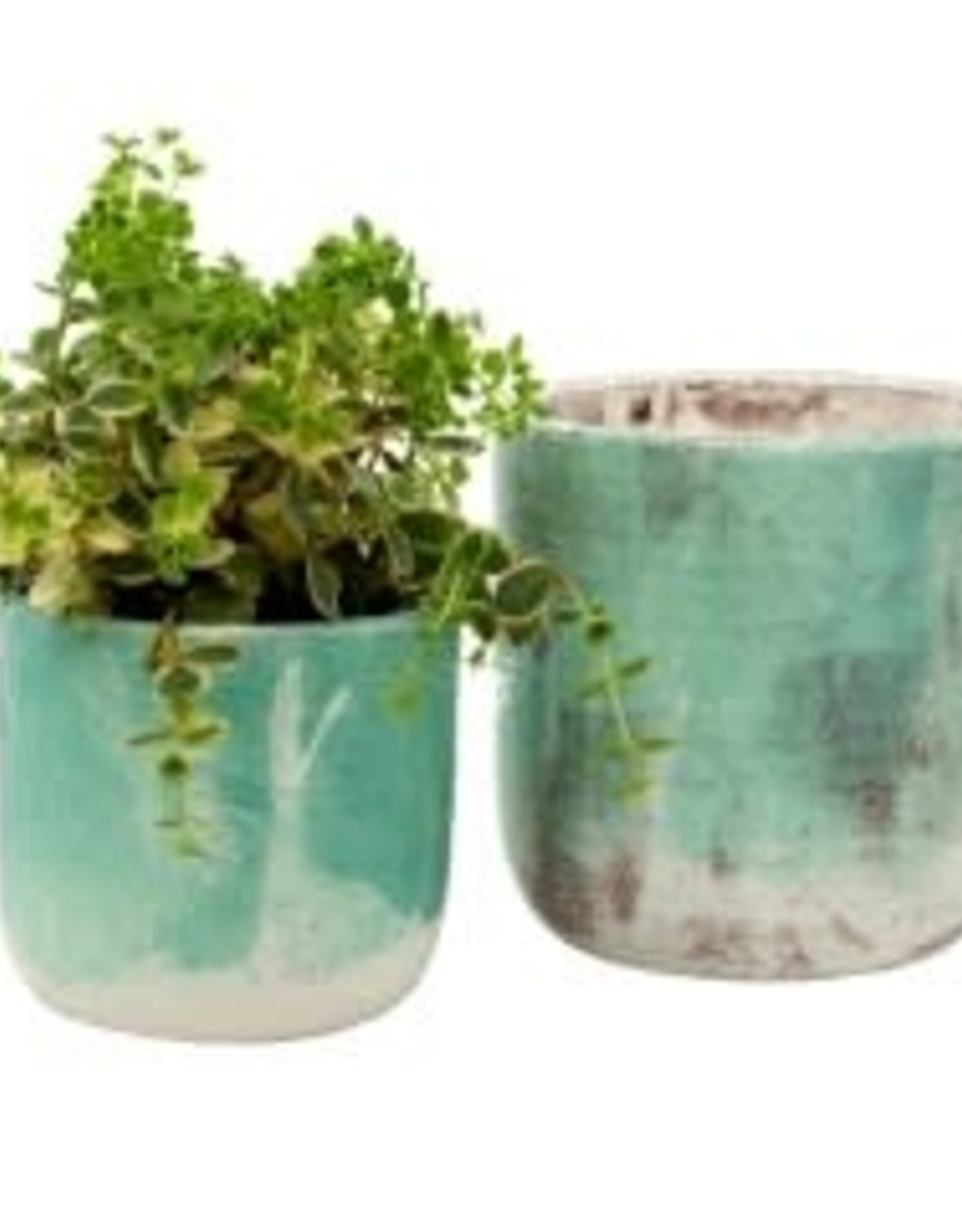 Indaba Aqua Palette Pot - Large