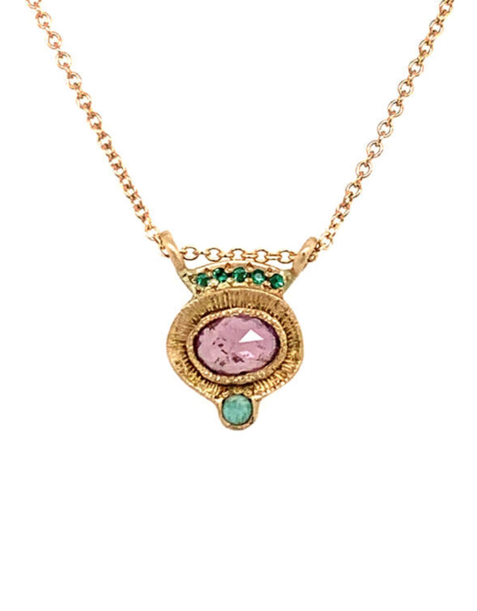 Lorak Jewelry Emerald Horizon Necklace