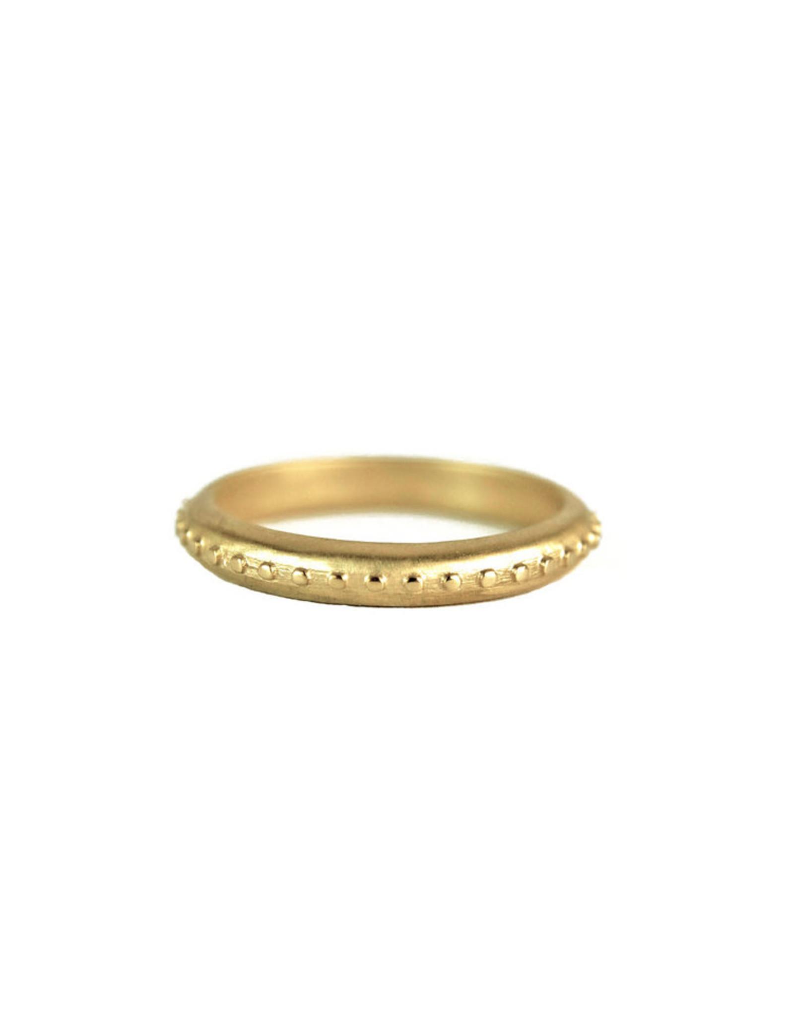 Lorak Jewelry Thin Bead Band - Sz. 6