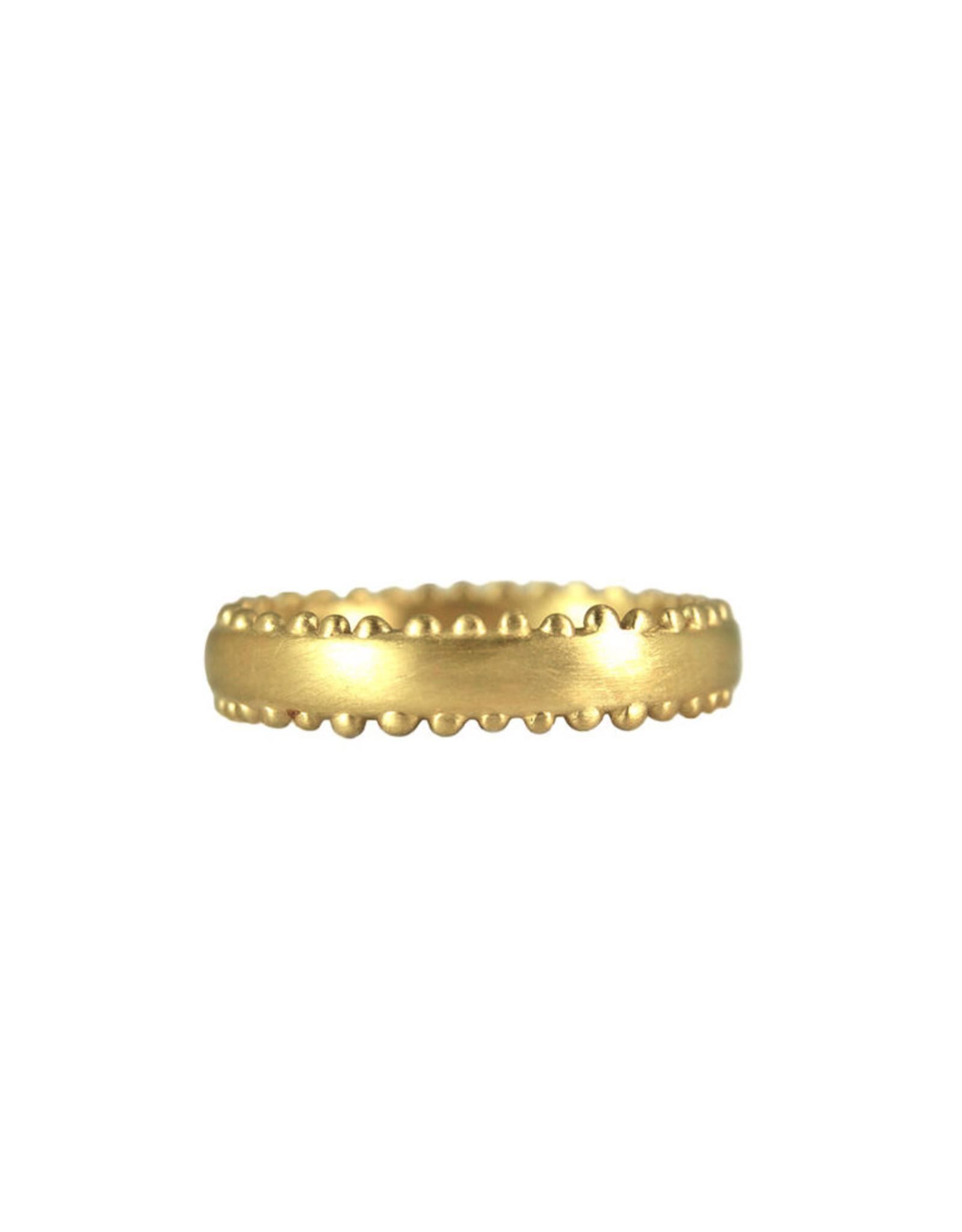 Lorak Jewelry Thin Beaded Jude Band - Sz. 6