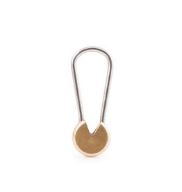 Kikkerland Twist + Lock Everyday Carry Brass Keyring