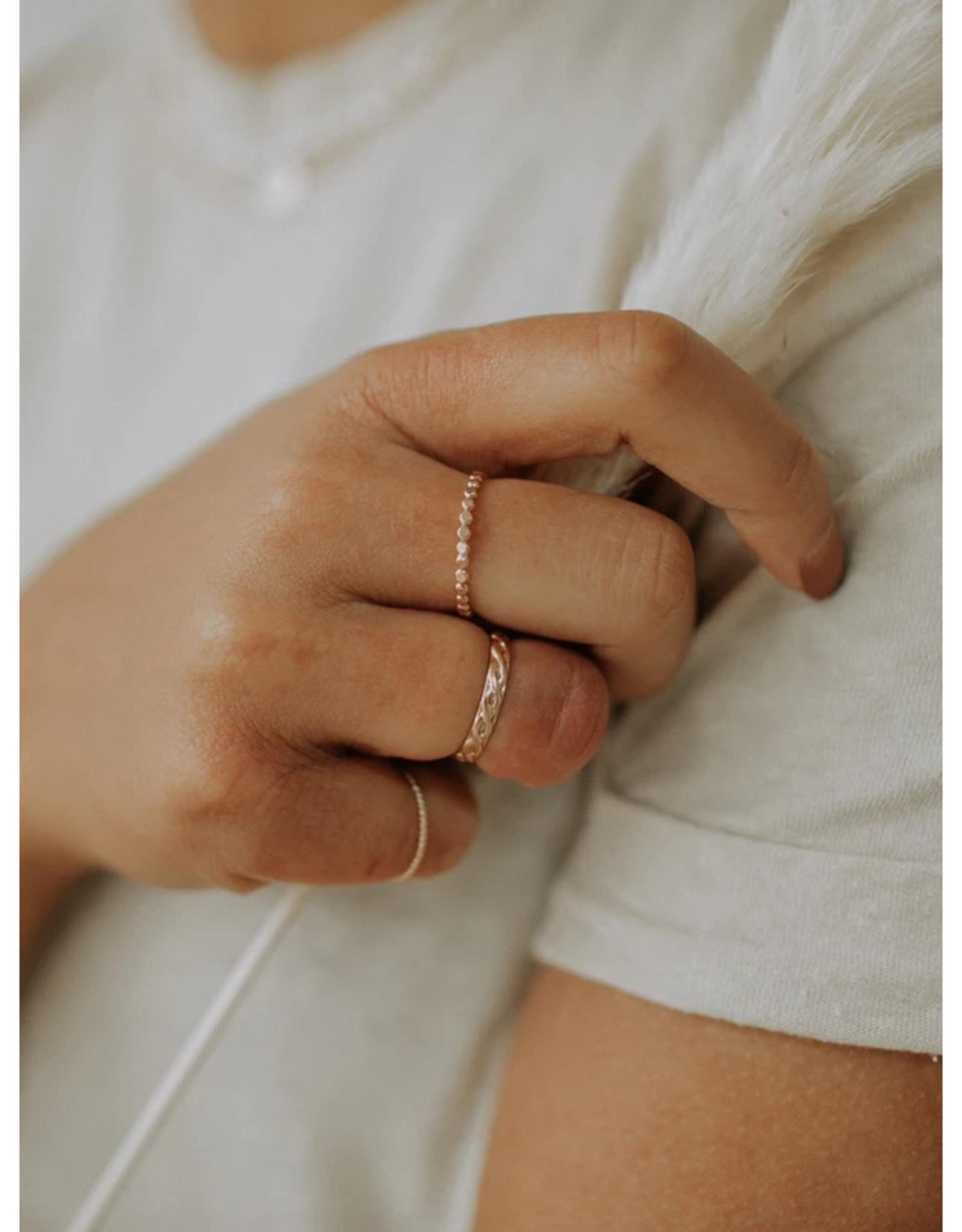 Hart + Stone Silver Skinny Sprinkle Ring -