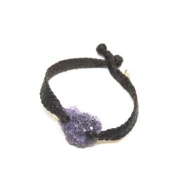 Kalosoma Woven Leather Bracelet with Druzy