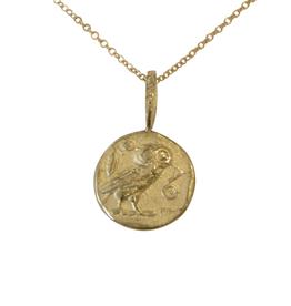 Robin Haley Jewelry Wisdom Owl Gold Artifact Necklace