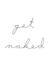 Gauge NYC 'get naked' Wire Word Poetic