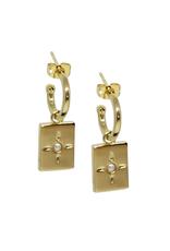 Vayu Jewels Belen Hoops - Pearl