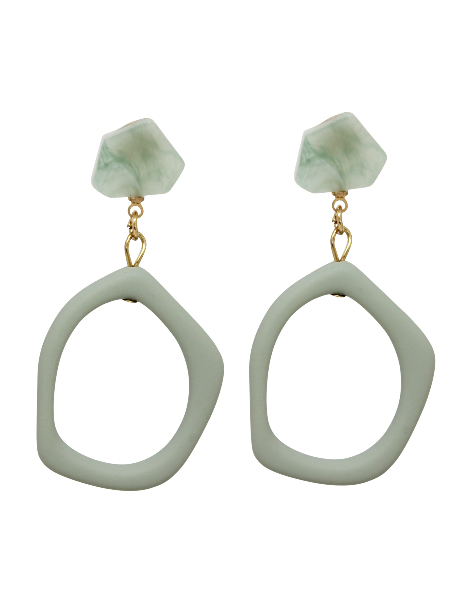 Vayu Jewels Grecia Earrings - Sage