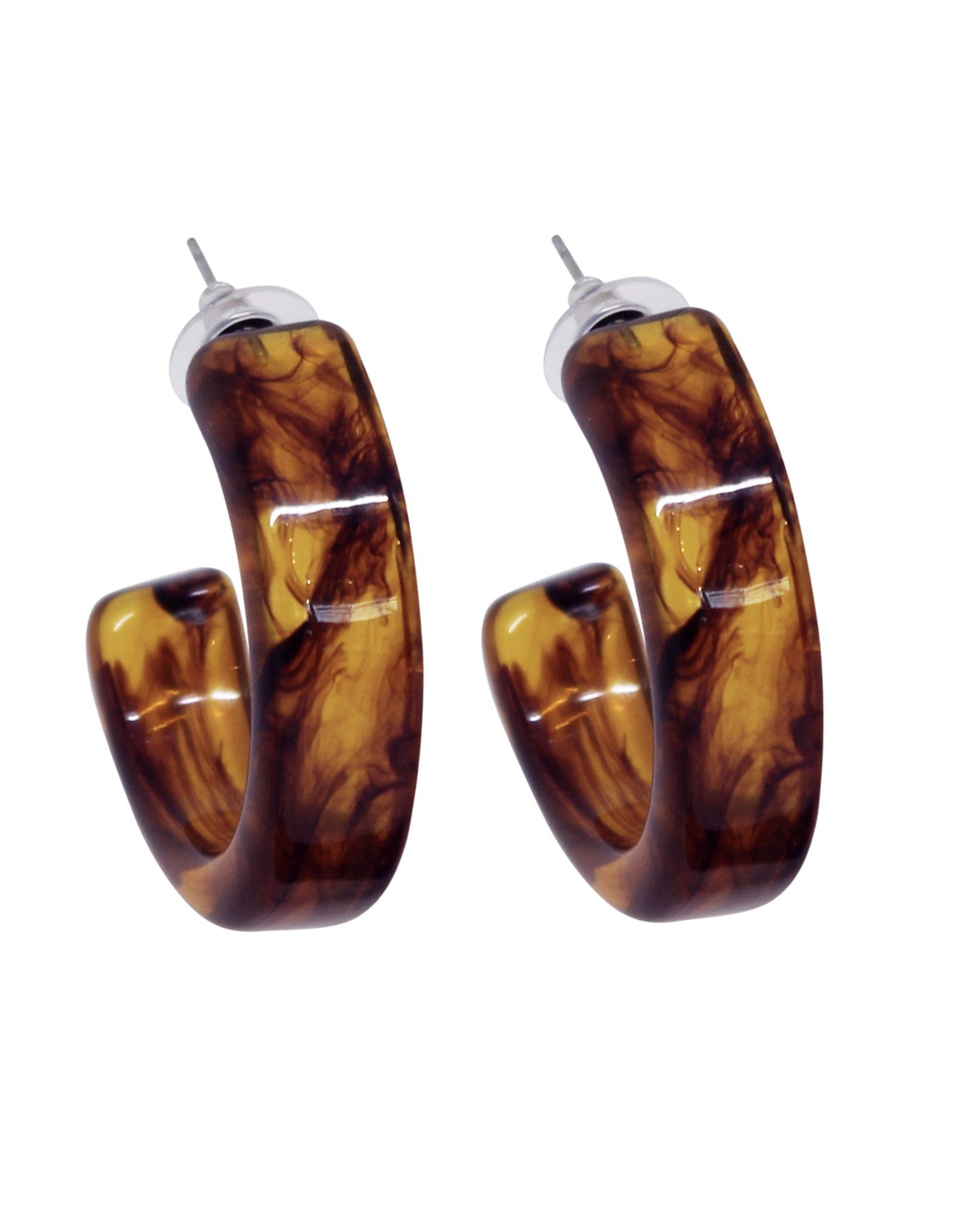 Vayu Jewels Camil Hoops - Amber