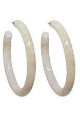 Vayu Jewels Rene Hoops - Latte