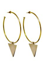 Vayu Jewels Triangle Charm Hoops