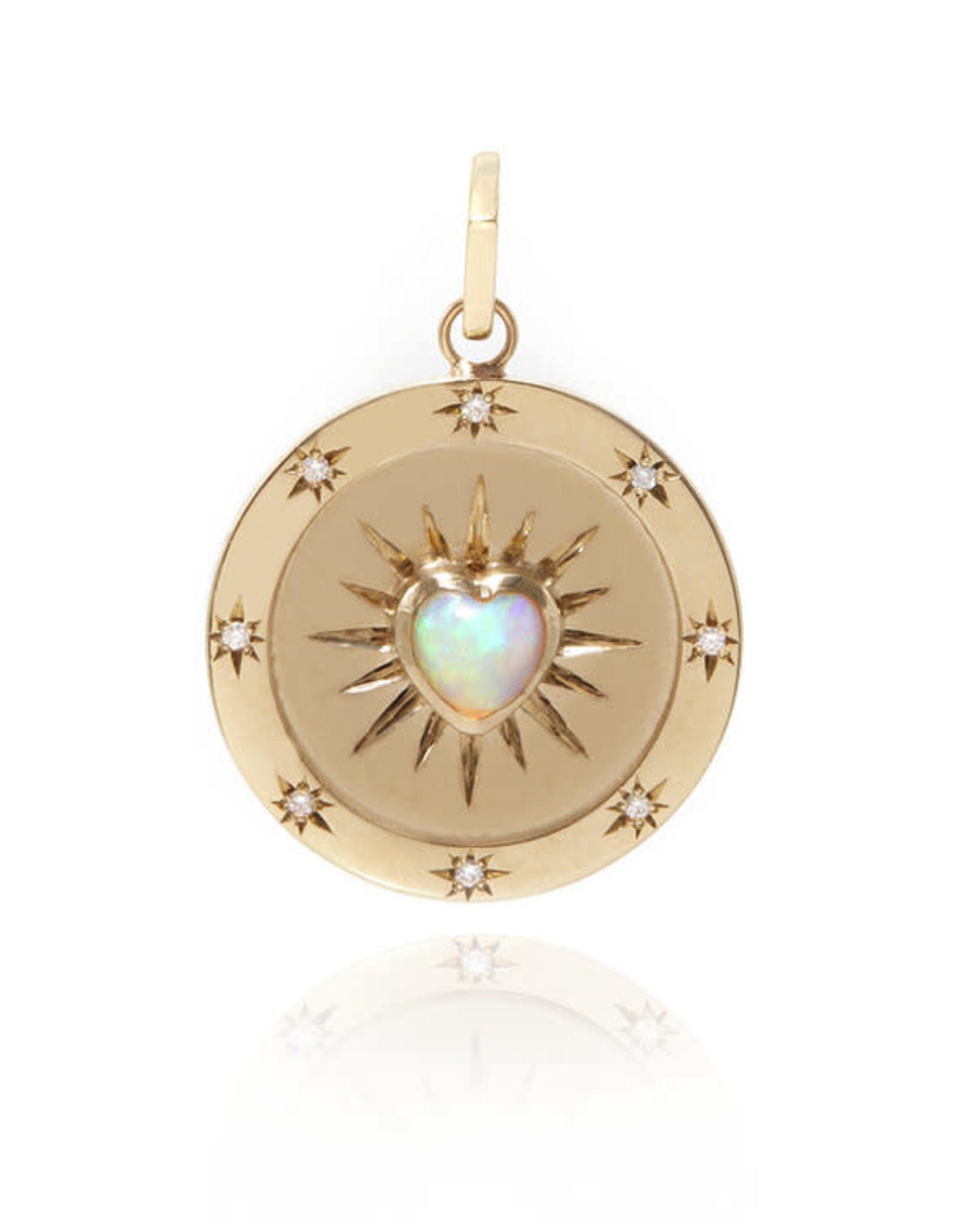 Ashley Zhang Jewelry Opal Heart Starlight Pendant