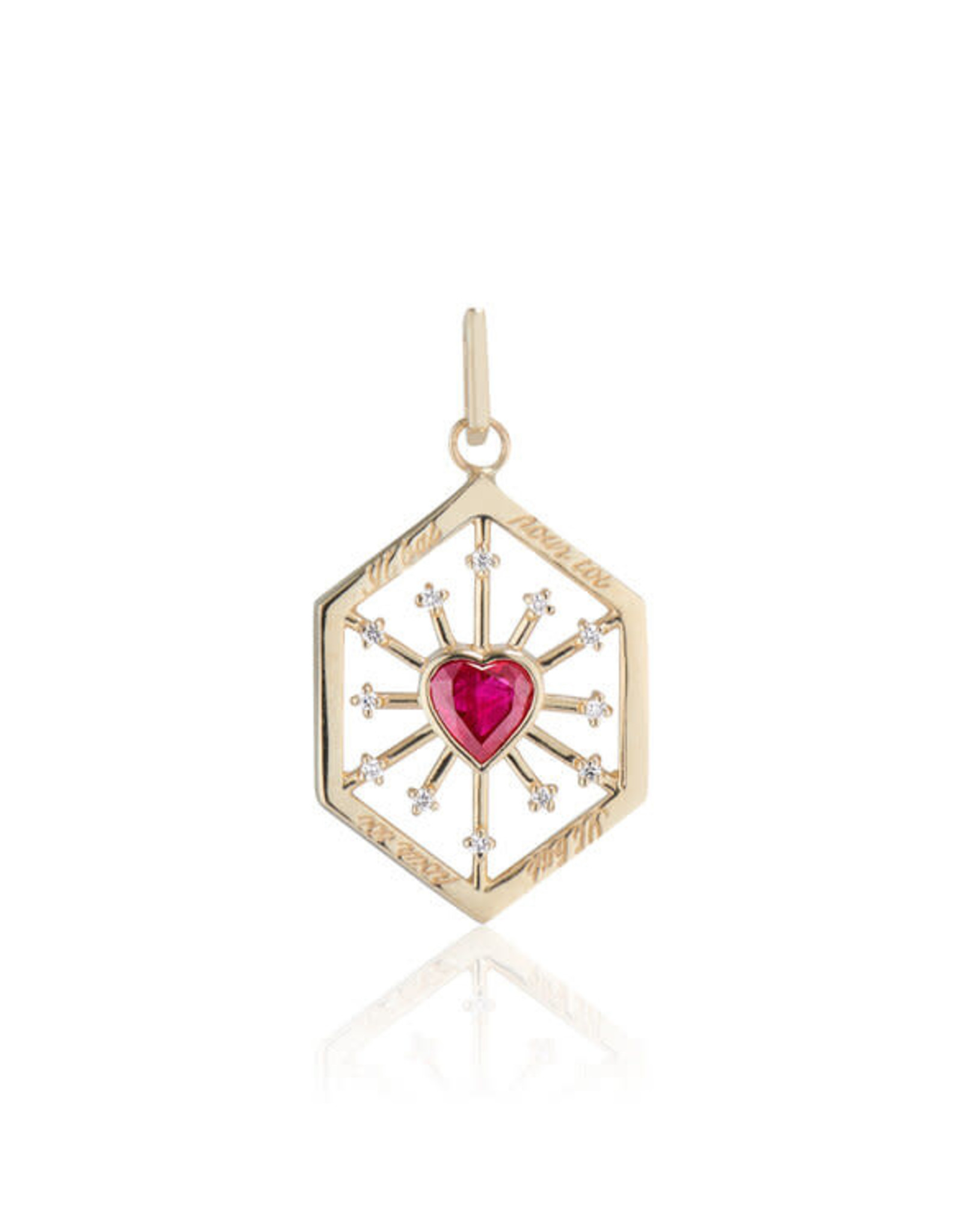 Ashley Zhang Jewelry Ruby Heart Love Token