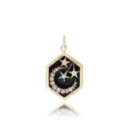 Ashley Zhang Jewelry Enamel Moon Love Token