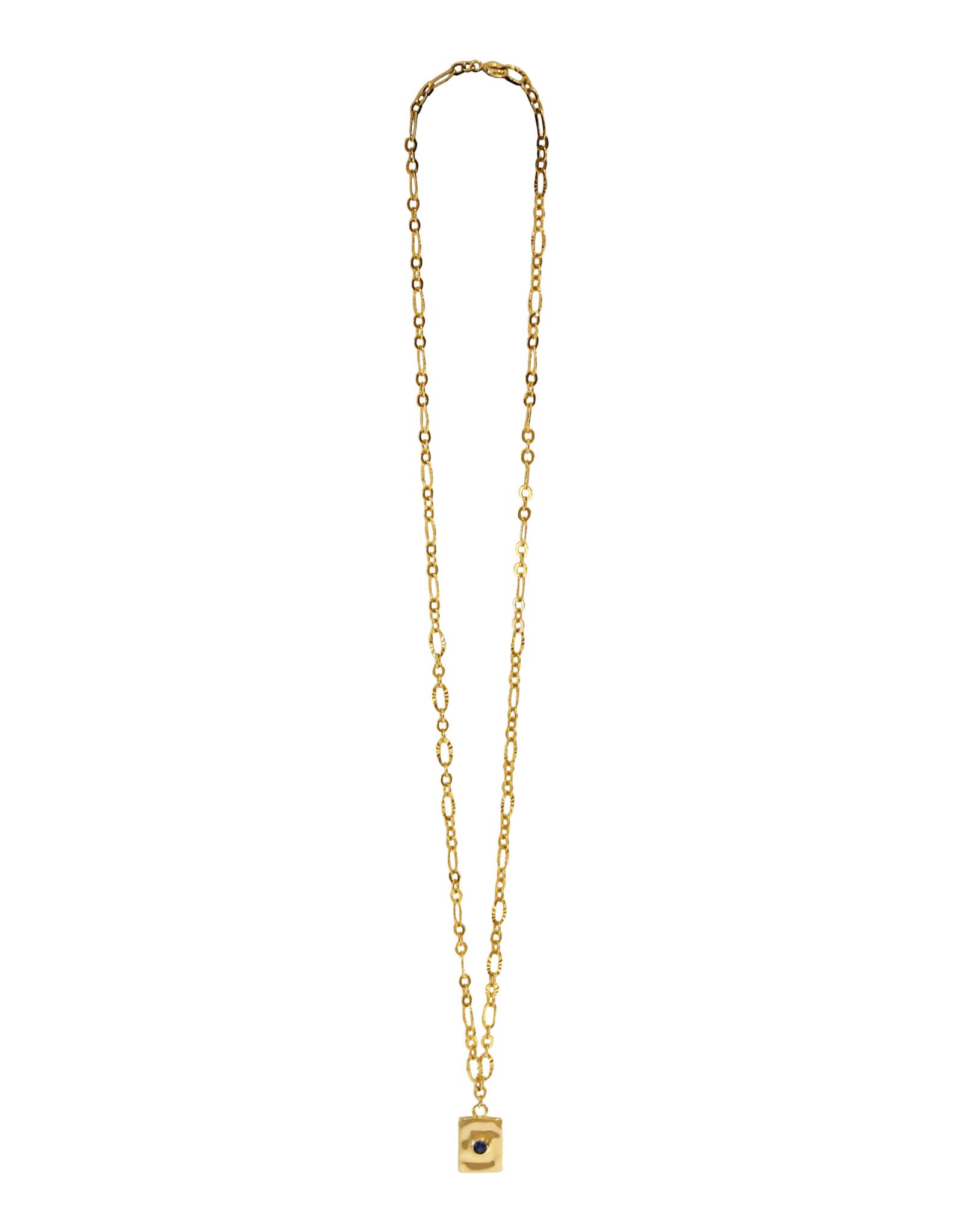 Vayu Jewels Luciene Necklace - Sapphire Blue