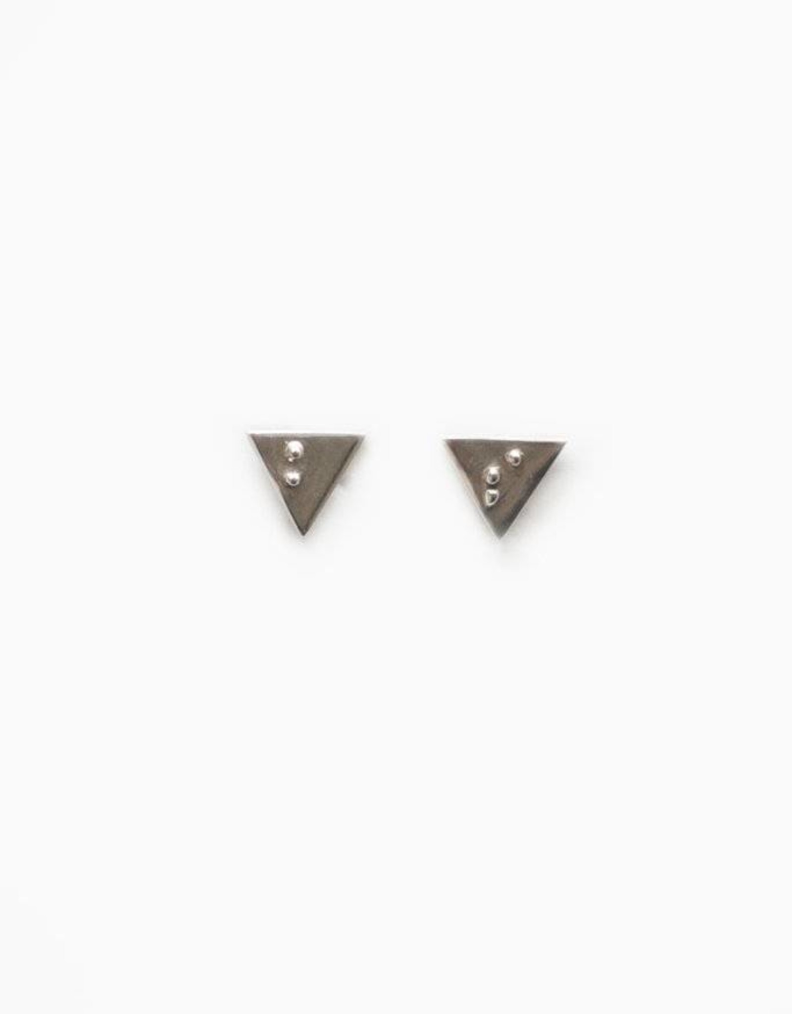 "Covet + Keep Jewelry Tindy ""B S"" Triangle Stud Earrings"