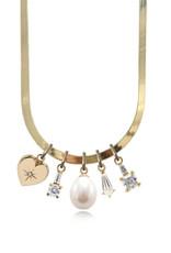 Ashley Zhang Jewelry Small Herringbone Necklace
