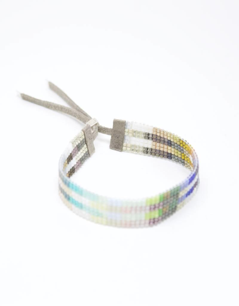 Julie Rofman Jewelry Stripes Beaded Bracelet
