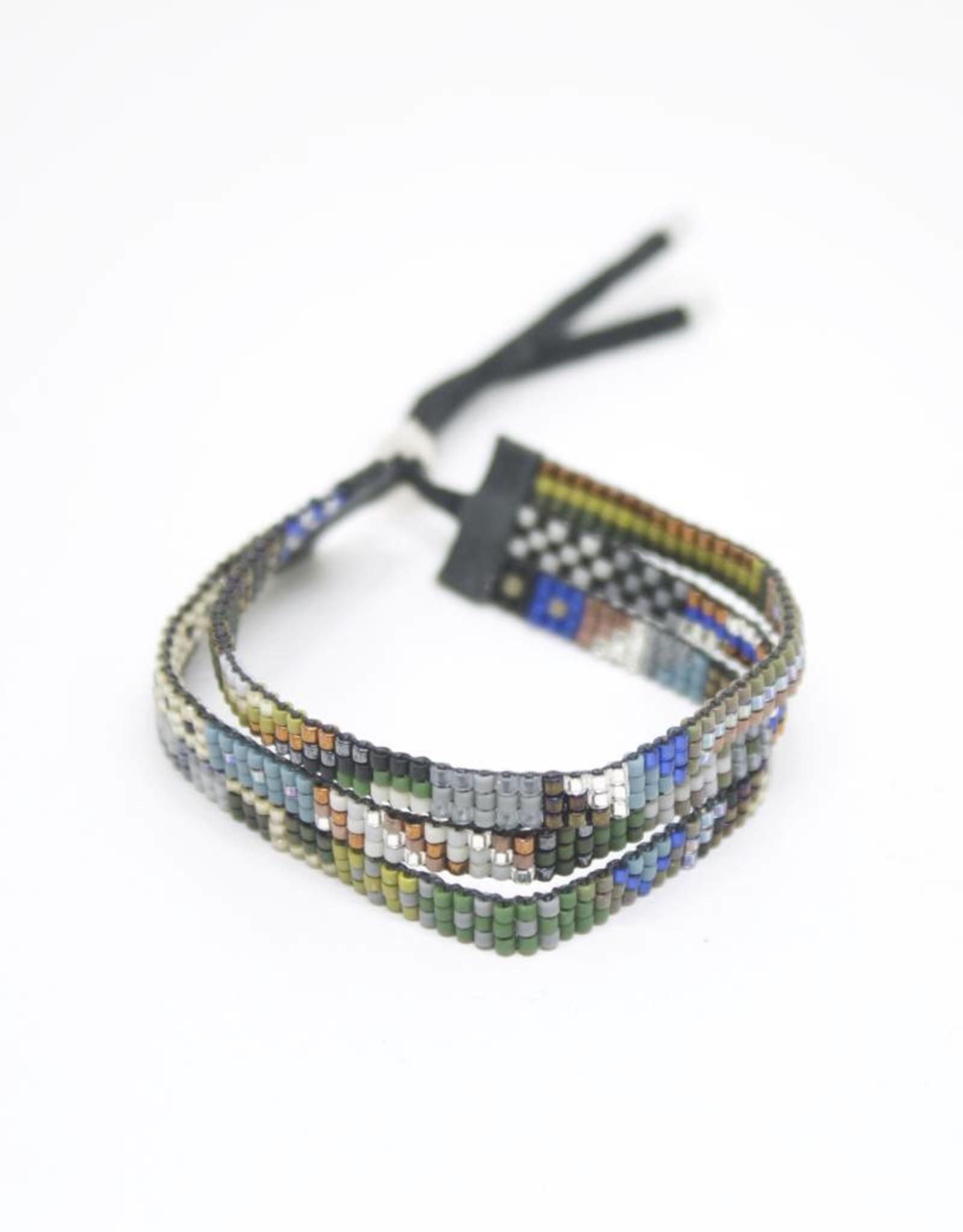 Julie Rofman Jewelry Humboldt Triple Beaded Bracelet
