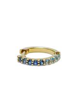 Mason Grace Jewelry Mini Bicolor Hoop - Blue Sapphire + Aquamarine