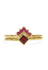 Mason Grace Jewelry Chevron Ruby Ring