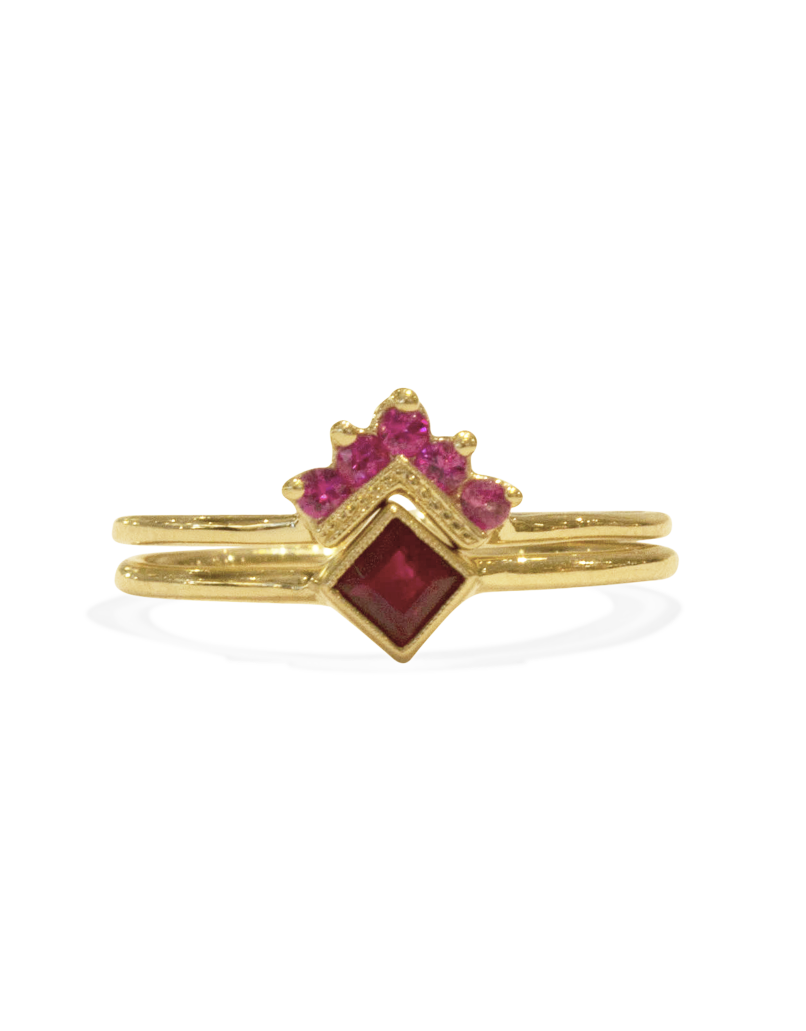 Mason Grace Jewelry Square Bezel Ruby Ring