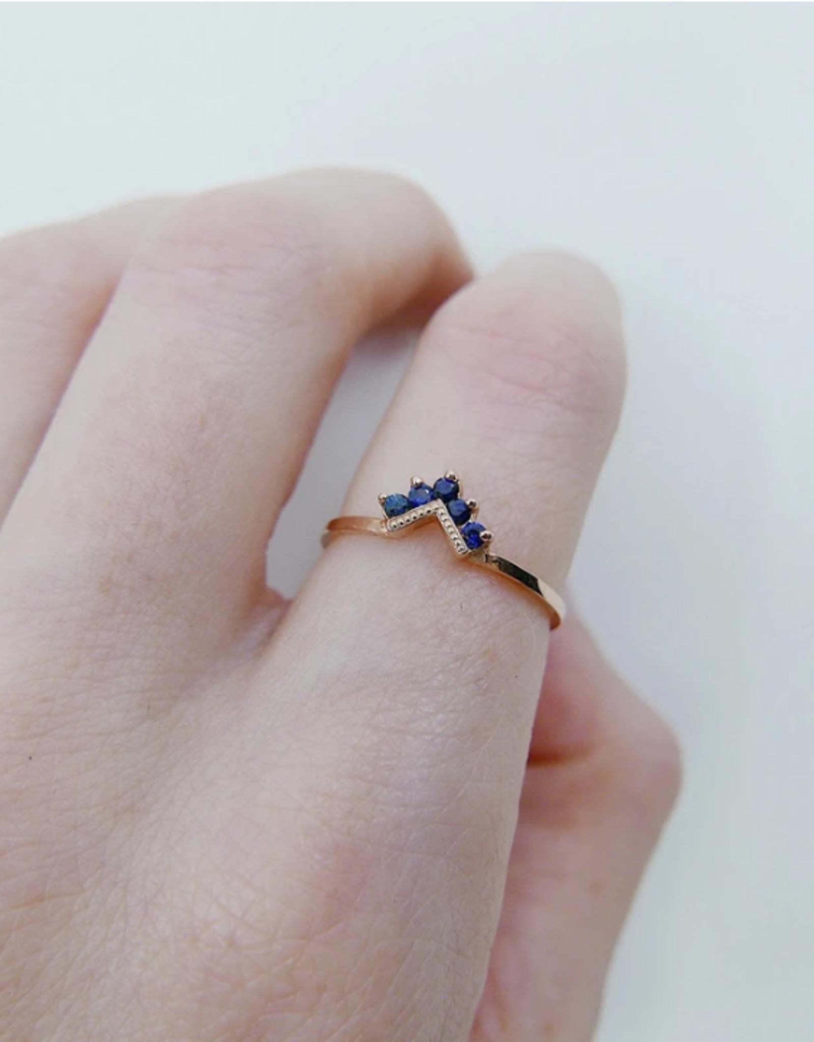 Mason Grace Jewelry Chevron Blue Sapphire Ring
