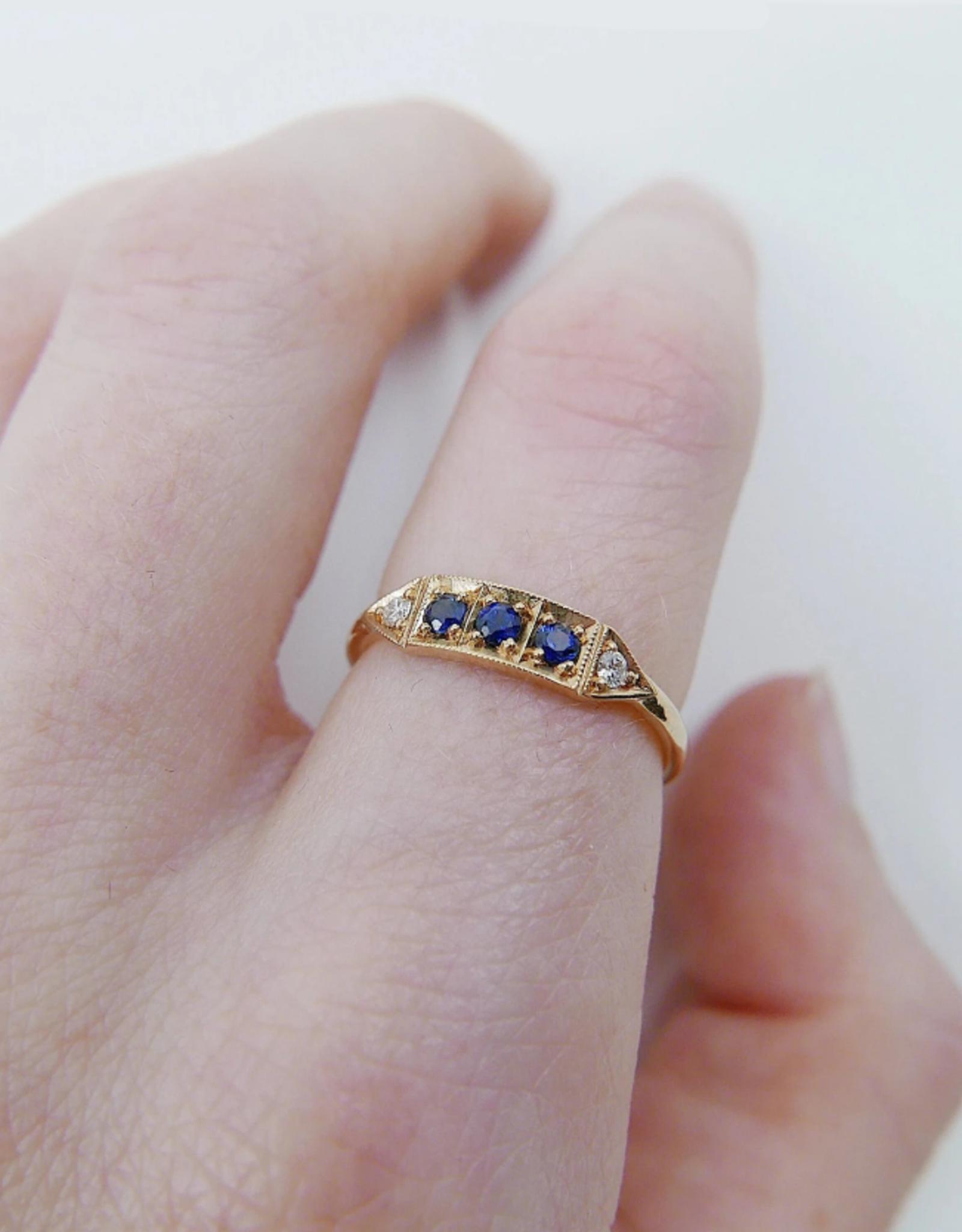 Mason Grace Jewelry Ms. Goodbar Blue Sapphire Ring