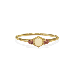 Mason Grace Jewelry Harlow Ring - Opal + Pink Tourmaline