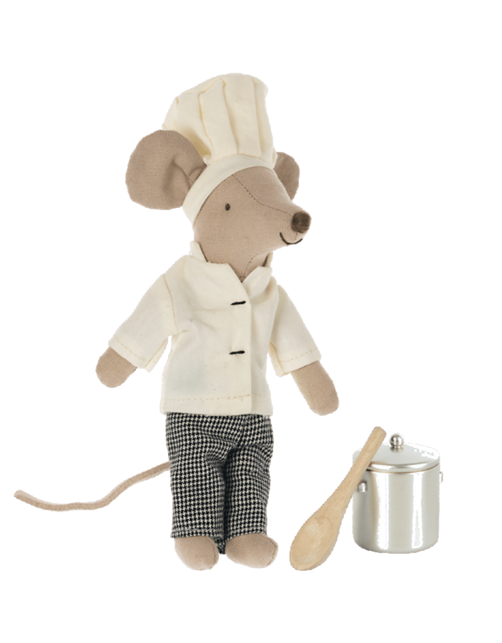 Maileg Chef Mouse with Soup Pot + Spoon