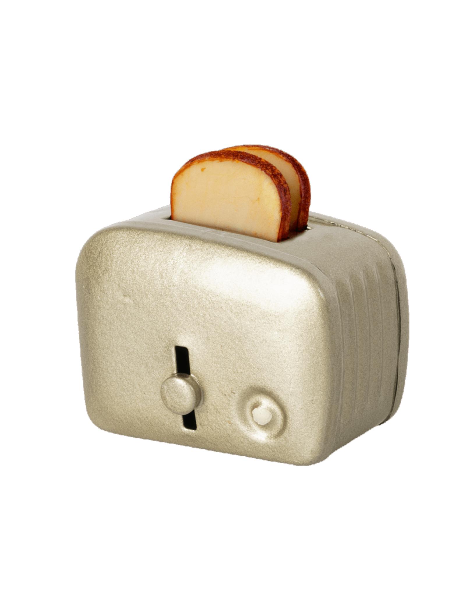 Maileg Miniature Toaster + Toast - Silver