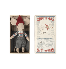 Maileg Pre-Order - Christmas Big Brother Mouse in Matchbox