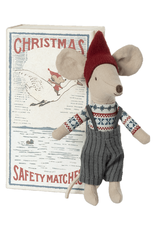 Maileg Christmas Big Brother Mouse in Matchbox