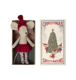 Maileg Pre-Order - Christmas Big Sister Mouse in Matchbox