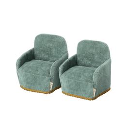Maileg Pre-Order - Mouse Chair Pair - Teal