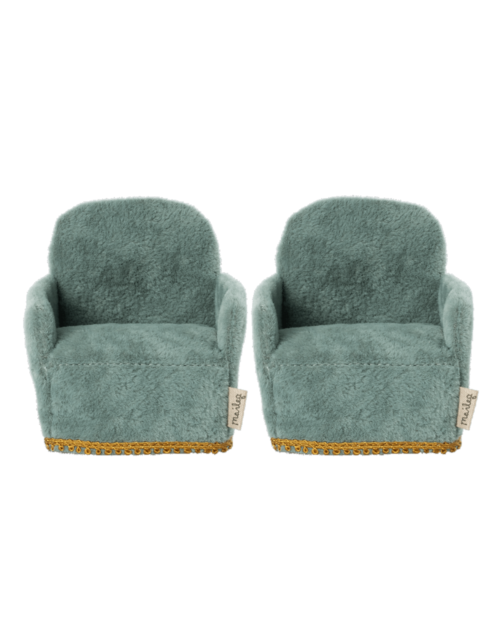 Maileg Mouse Chair Pair - Teal
