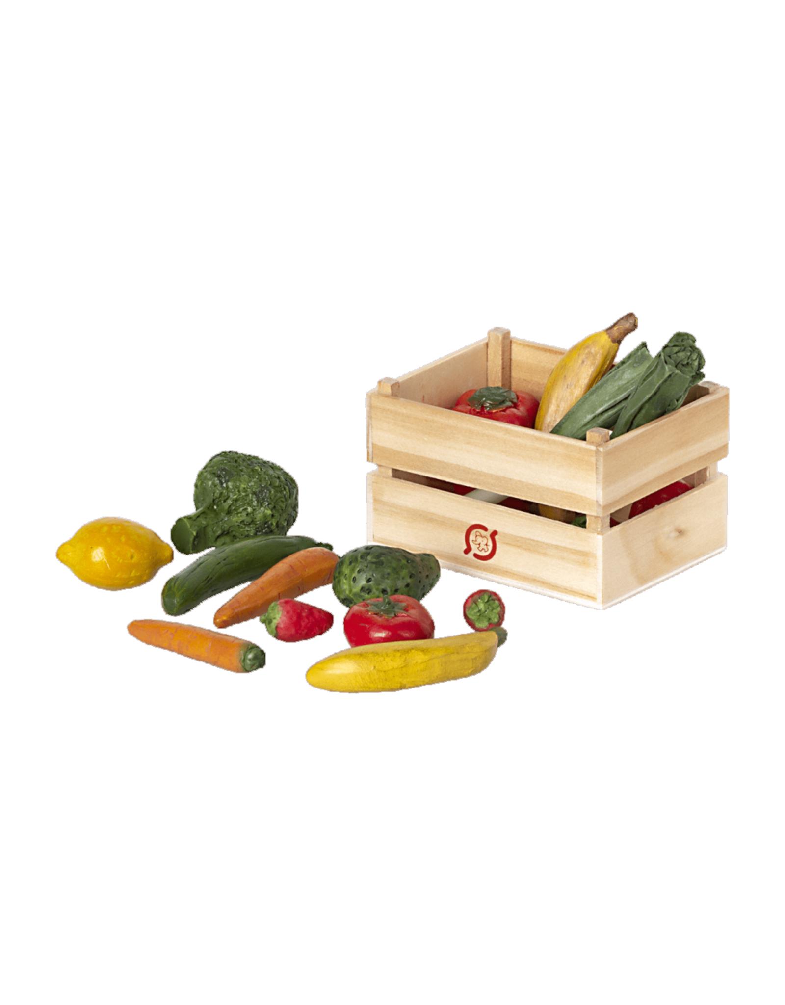 Maileg Miniature Veggie + Fruit Crate