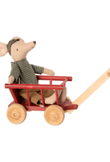 Maileg Mouse Wagon - Dusty Red