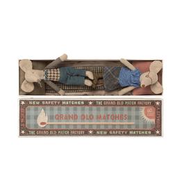 Maileg Pre-Order - Grandma + Grandpa Mice in Long Matchbox