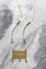 Ink + Alloy Vana - Brass Pendant Necklace