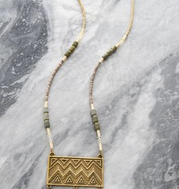 Ink + Alloy Vana - Brass Pendant Necklace
