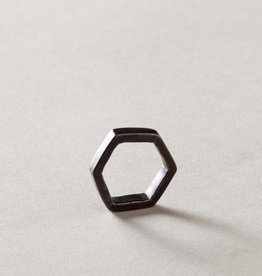 MulXiply Hexagon Ring - Oxidized Brass