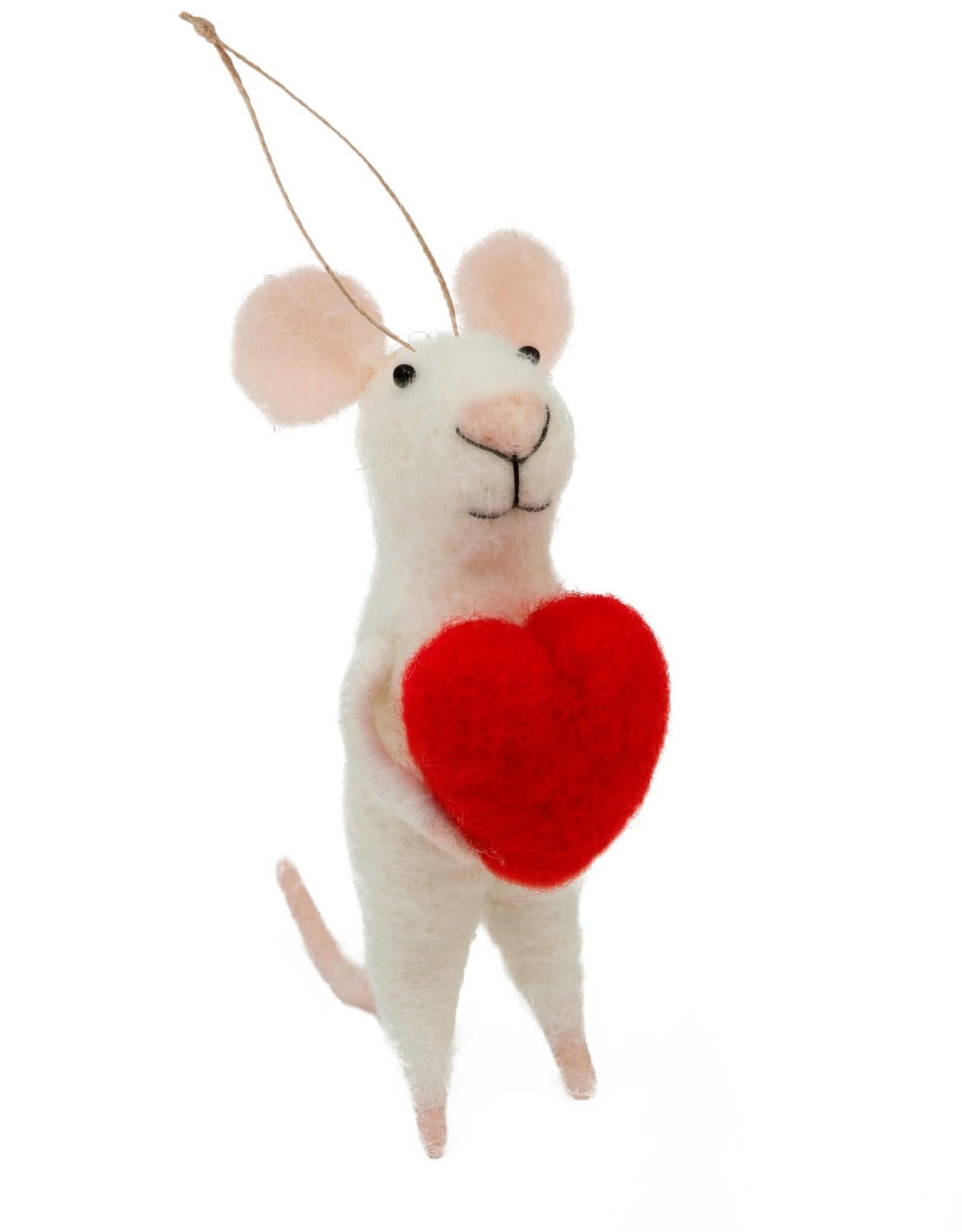 Indaba Love You Lenny Mouse Ornament